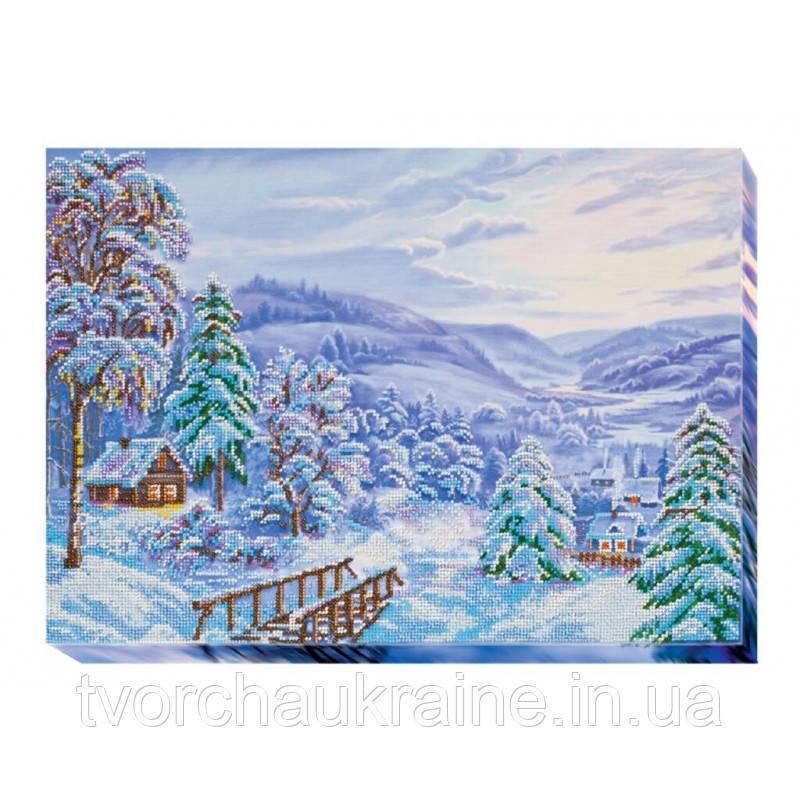 Набор для вышивки бисером на холсте «Зимнее утро»