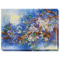 Набор для вышивки бисером на холсте «Цветущая ветка»