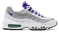 Кроссовки женские Nike Air Max 95 White/Court Purple (найк аир макс)