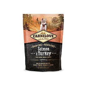 Беззерновой корм Carnilove Лосось и индейка для взрослых собак крупных пород, 1,5 кг