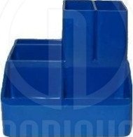 """Подставка настольная """"Economix"""" на 6 отделений синяя (9*10*8) E81983-02"""