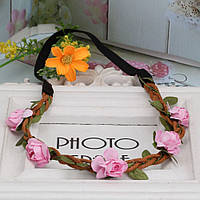 Резинка римская цветы,розочки