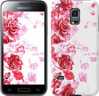 "Чехол на Samsung Galaxy S5 mini G800H Нарисованные розы ""724u-44"""