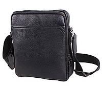 Мужская кожаная сумка через плечо черная (Турция)