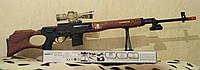 Детская снайперская винтовка СВД на орбизах (водяных пулях), очки, сошки, лазер, фонарик, игрушечное оружие