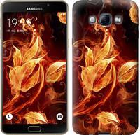 """Чехол на Samsung Galaxy A8 A8000 Огненные цветы """"1100u-135"""""""