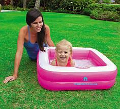 """Детский бассейн """"Квадратный"""" Intex 57100 размером 85-85-23см, высота борта 18см."""