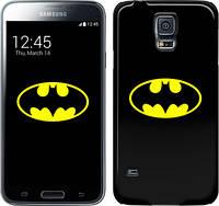 """Чехол на Samsung Galaxy S5 Duos SM G900FD Бетмен логотип """"3201c-62"""""""