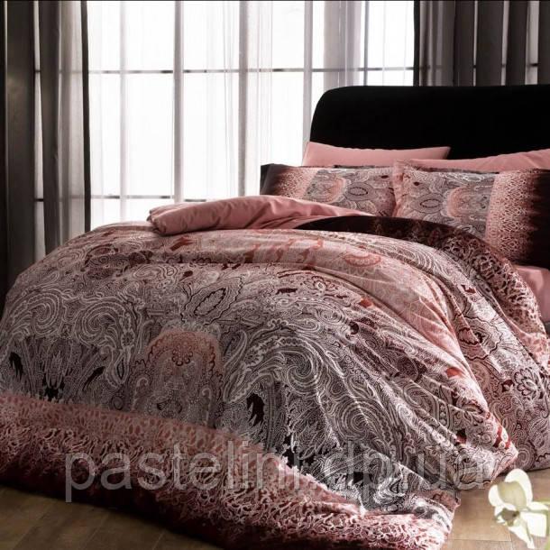 ТАС Digital Chanelle pembe  семейный комплект постельного белья