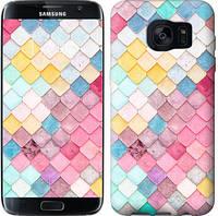 "Чехол на Samsung Galaxy S7 Edge G935F Красочная черепица ""3703c-257"""
