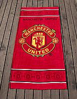 Полотенце пляжное велюр 75х150 Manchester United Lotus