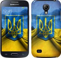 "Чехол на Samsung Galaxy S4 mini Флаг и герб Украины 1 ""375c-32"""