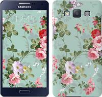 """Чехол на Samsung Galaxy A5 A500H Цветочные обои 2 """"862c-73"""""""