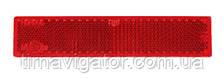 Отражатель 103х21 прямоугольный красный