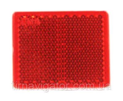 Отражатель 38х47 квадратный красный