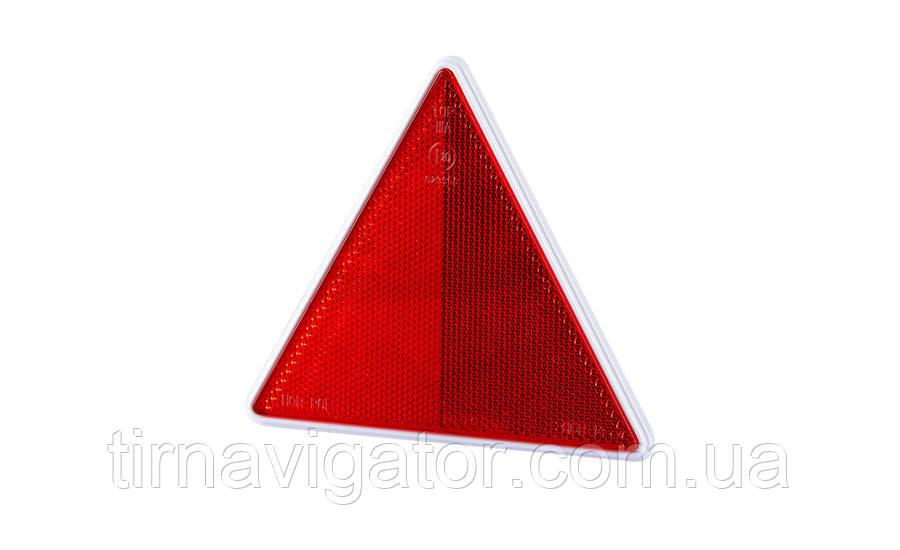 Треугольный рефлектор  с белой рамкой