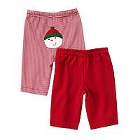 """Детские штанишки для мальчика """"Снеговик"""" (2 шт) 3-6, 6-9 месяцев"""