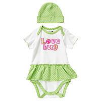 Комплект для новорожденной девочки. 0-3 месяца