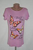 """Футболка женская """"Trend color"""" - розовый"""