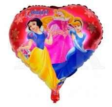 Фольгований повітряна куля серце принцеси дісней 45 см