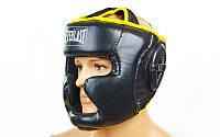 Шлем боксерский с полной защитой Everlast PU BO-6001-BK. Распродажа!