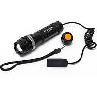Подствольный фонарик Police Q8483-XPE, крепление на планку Вивера, выносная кнопка, тактические фонари, охота