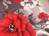 """Расцветка """"Крупные маки"""" полуторный комплект Бязь Голд"""