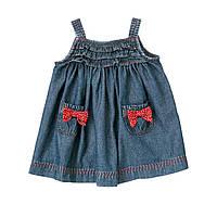 Детский джинсовый сарафан. 12-18 месяцев, фото 1