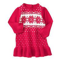 Вязаное детское платье. 18-24 месяца