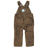 Детский джинсовый полукомбинезон для мальчика  3-6 месяцев, фото 1