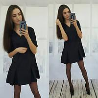 Повседневное короткое платье с коротким рукавом