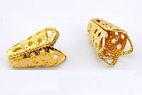 Обниматель бус, колокольчик 1,5 см, золото