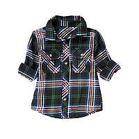 Фланелевая рубашка для мальчика.12-18 месяцев, 2 года.
