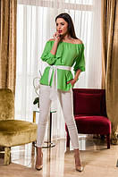 Женский  летний костюм - блуза и брюки