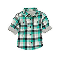 Детская фланелевая рубашка на подкладке. 12-18 месяцев