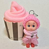 Оригинальный Сувенир Подарочное Полотенце Салфетка Кекс с Куколкой