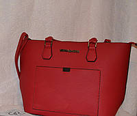 Красная сумка в стиле Michael Kors
