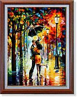 """Репродукция  современной картины """"Танец под дождём"""" 32 х 43 см"""