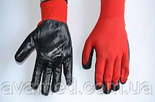 Рукавички стрейч чоловічі (Червоний/Чорний)