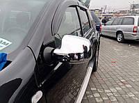 Renault Sandero 2007-2013 гг. Накладки на зеркала (2 шт) Carmos - Хромированный пластик