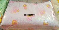 Защита для детской кроватки Мишки на сердечке