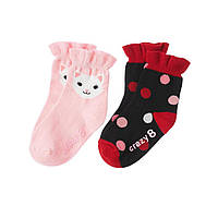 Детские носочки для девочки (2 пары). 6-12  месяцев