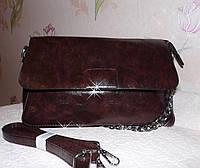 Модная женская темно-коричневая сумка