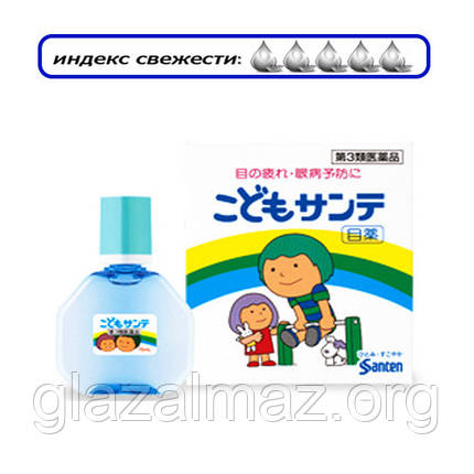СНЯТО С ПРОИЗВОДСТВА Kodomo Sante мягкие детские капли для глаз из Японии с таурином и витамином B6, фото 2