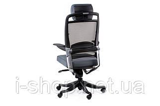 Крісло офісне Special4You FULKRUM SLATEGREY FABRIC, SLATEGREY MESH, фото 2