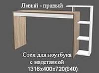 Стол для ноутбука левый- правый Серия Эко+