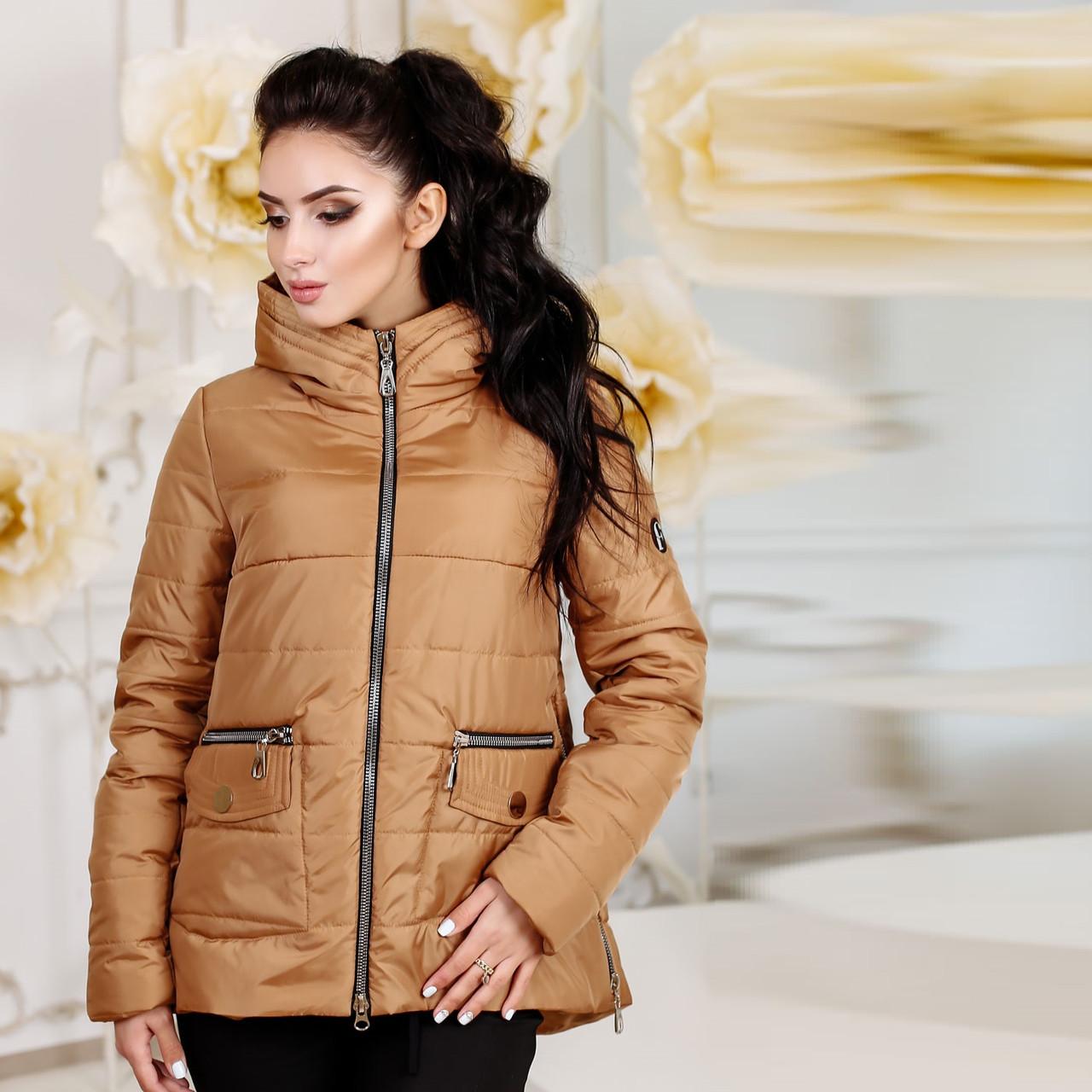 Демисезонная куртка  на синтепоне F  77925  Коричневый