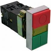 """Кнопка сдвоенная """"Пуск-Стоп"""" NP2-BW8465 1NO+1NC с индикатором"""