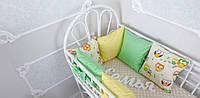 Комплект бортиков в кроватку и простынь Весенние Совушки 6 шт.