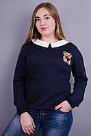 Шарлота. Женская кофта больших размеров. Синий., фото 1